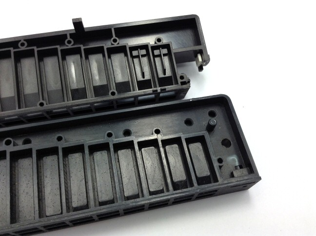 Stock injection-moulded ABS combs